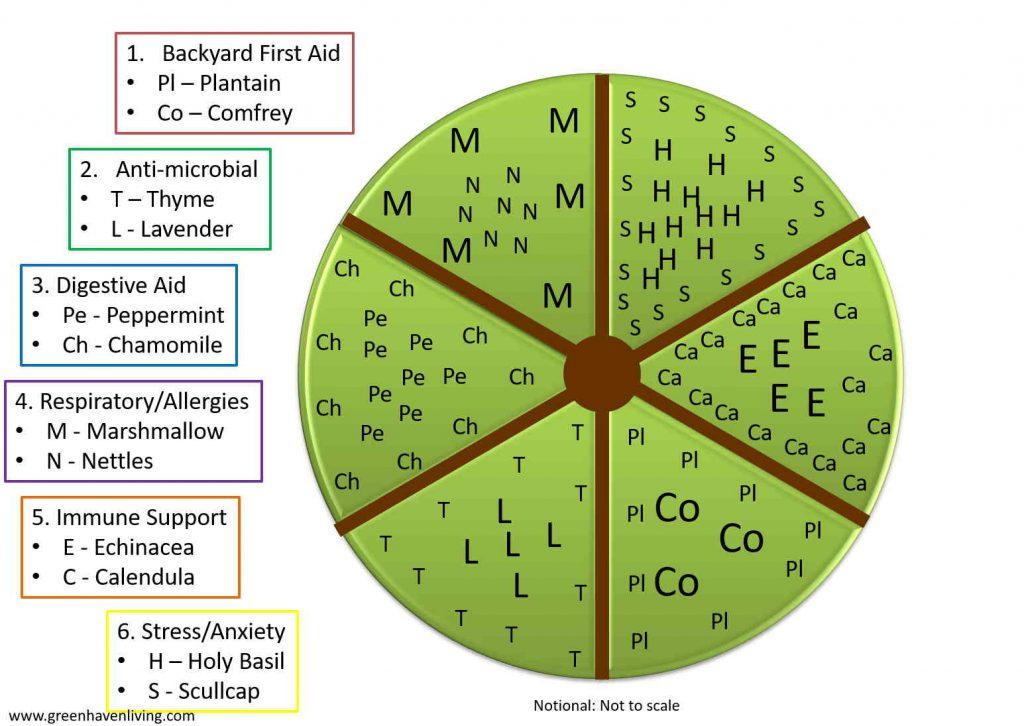 Wagon Wheel Herb Garden Plan